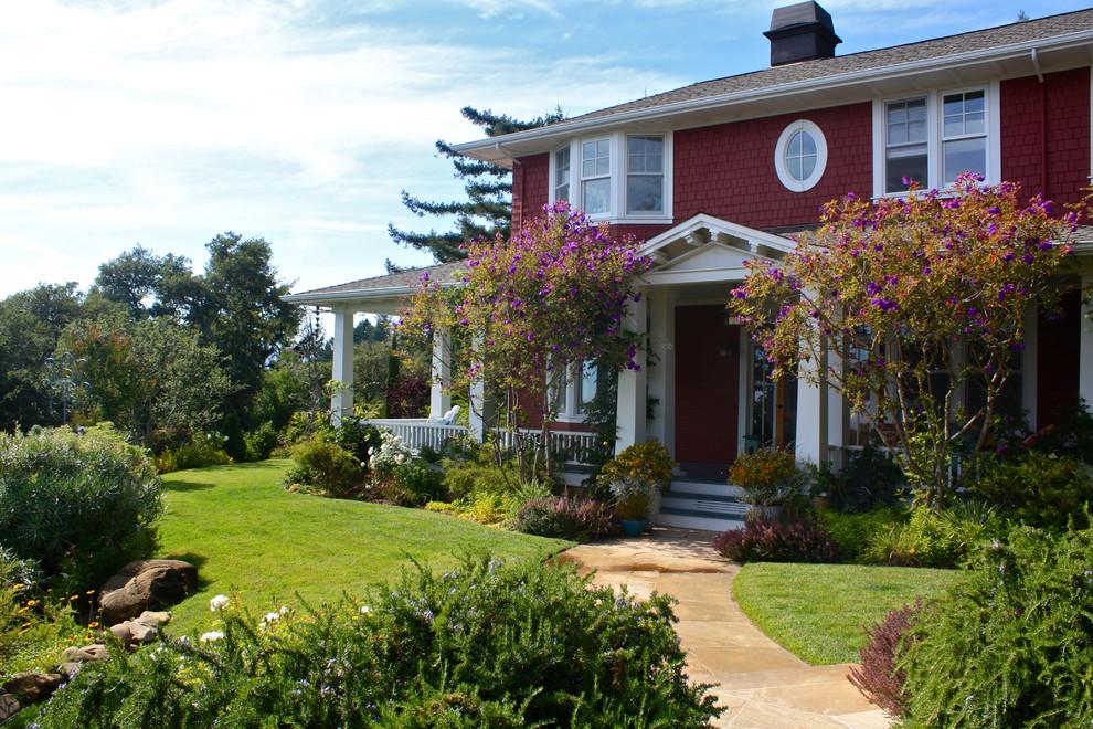 Victorian red exterior home idea in San Francisco