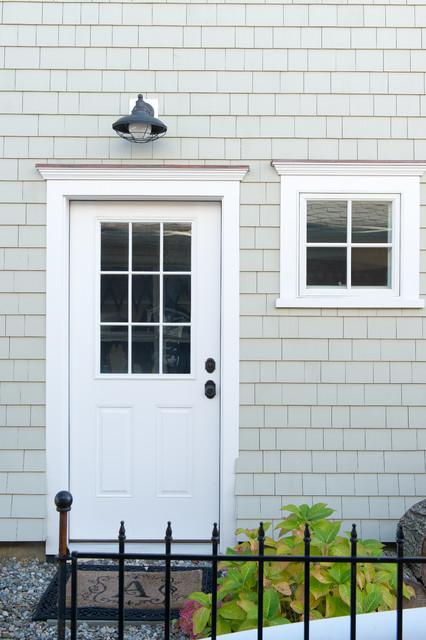 Exterior Side Door Beach Style Exterior New York By Cmm