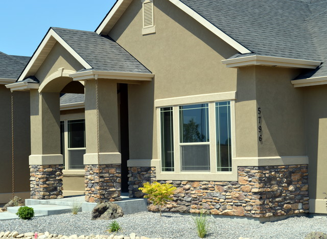 Exterior siding stucco stone for Stone and stucco home designs