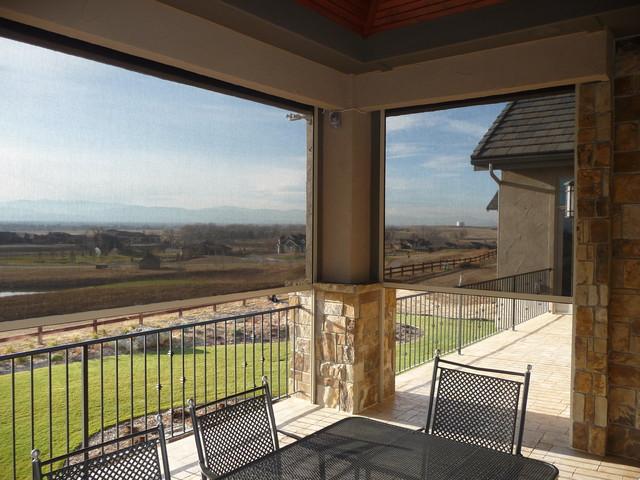 Exterior Solar Shade - Oasis Series contemporary-exterior