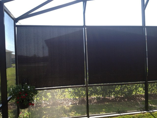 Exterior Solar Shades Tropical Exterior Orlando By Budget Blinds Clermont