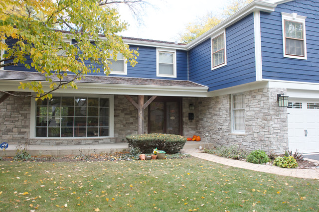 Exterior Stone Projects: Before and After traditional-exterior