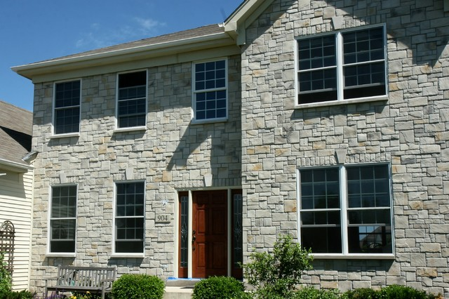 Exterior Stone Siding Castle Rock Traditional Exterior Chicago By North Star Stone