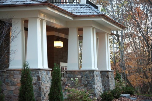 Architectural details columns and pillars offer more than for Arts and crafts porch columns