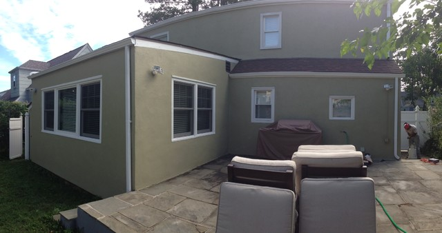 Exterior Stucco Repaint - Contemporary - Exterior - new york - by Boom Painting