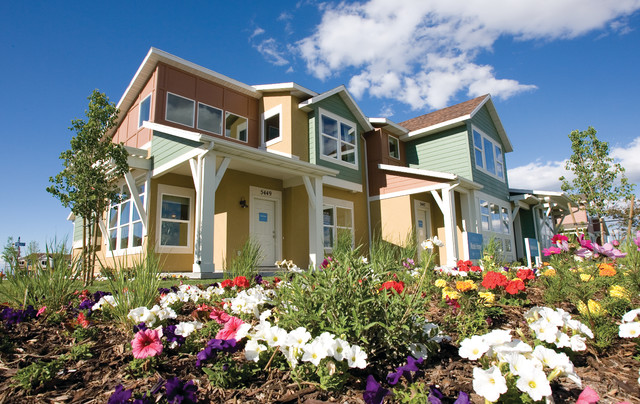 Crossover Townhome transitional-exterior