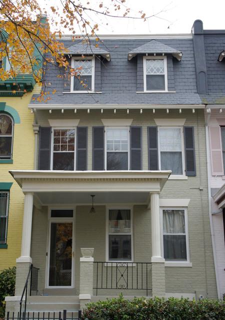 Exterior Transformation Historic Mt Pleasant Washington D C Row House