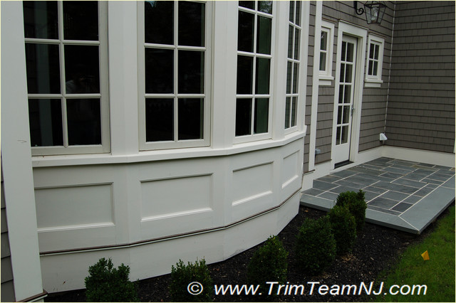 Exterior trim traditional exterior by trim team nj for Decorative window trim exterior