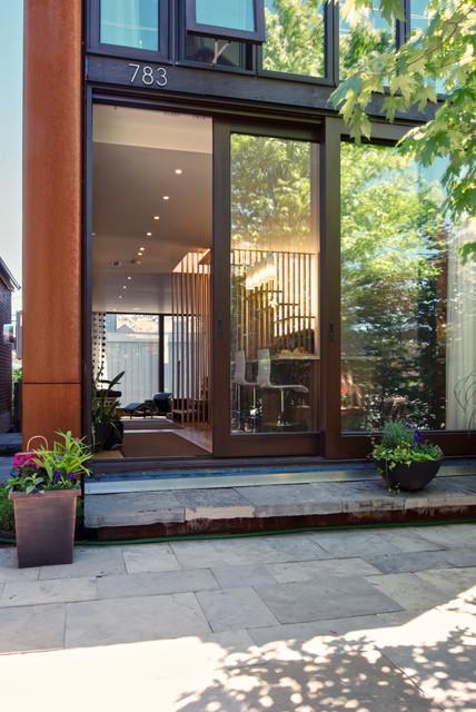 Exterior - View through house modern-exterior