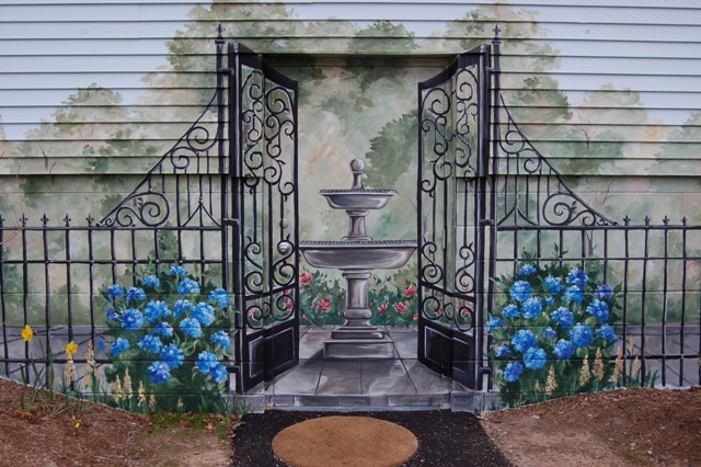 Exterior Wall Mural Traditional Exterior Boston By