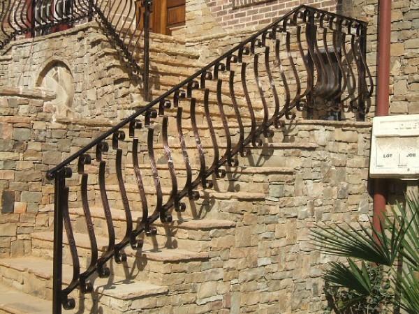 Exterior Wrought Iron Handrail / Railing - Mediterranean ...