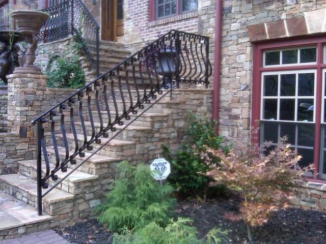 Exterior Wrought Iron Handrail Railing Mediterranean Exterior Atlanta By Womack Iron
