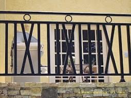 Exterior Wrought Iron Handrail / Railing mediterranean-exterior