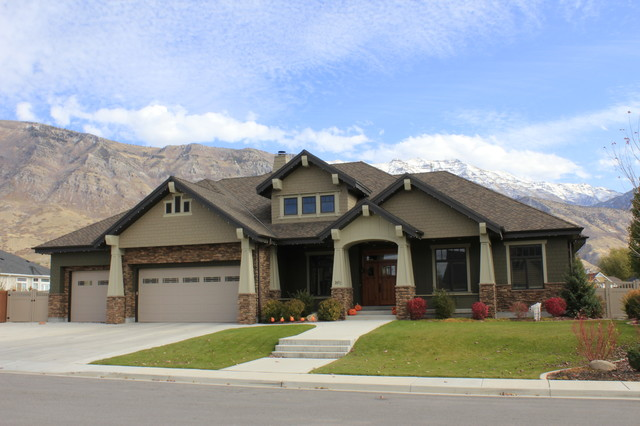 Exteriors craftsman exterior salt lake city by jcd for Custom craftsman home plans