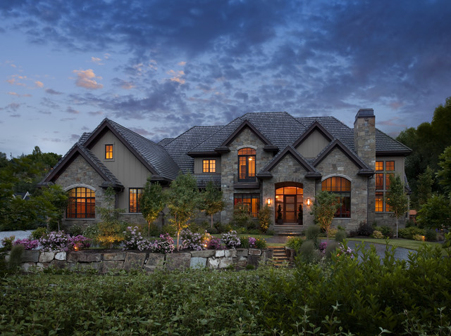 Exteriors traditional exterior salt lake city by joe carrick design custom home design - Unique house design ...