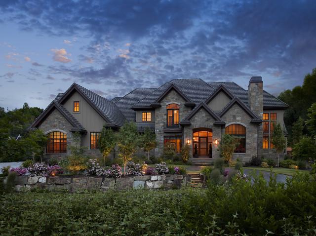 interesting traditional home exterior design | Exteriors - Traditional - Exterior - salt lake city - by ...