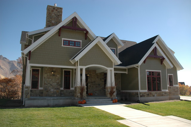 Exteriors craftsman exterior salt lake city by joe Craftsman style gables