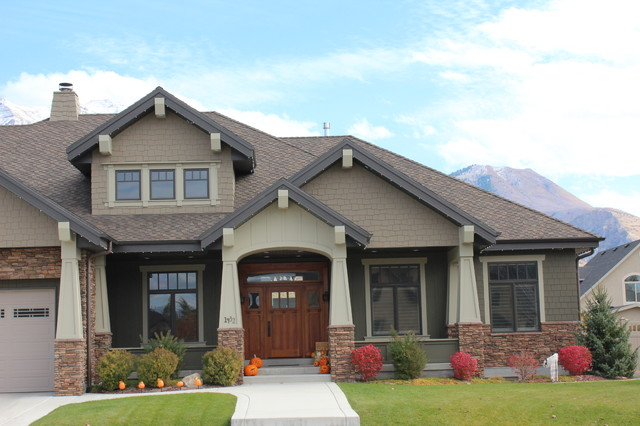 Exteriors craftsman exterior salt lake city by joe for Home exterior paint design