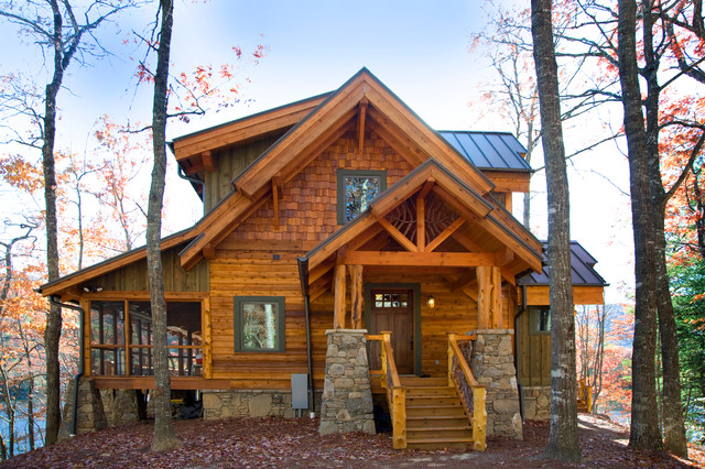 Exteriors Log Timber Frame Hybrid Rustic Exterior
