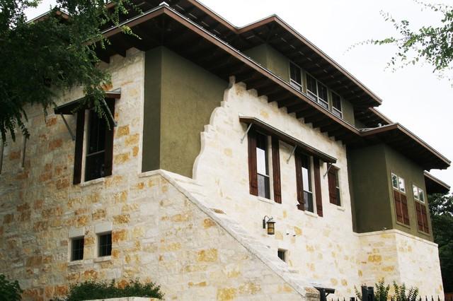 Exteriors stucco stone wood mediterranean exterior for Exterior by design stucco stone