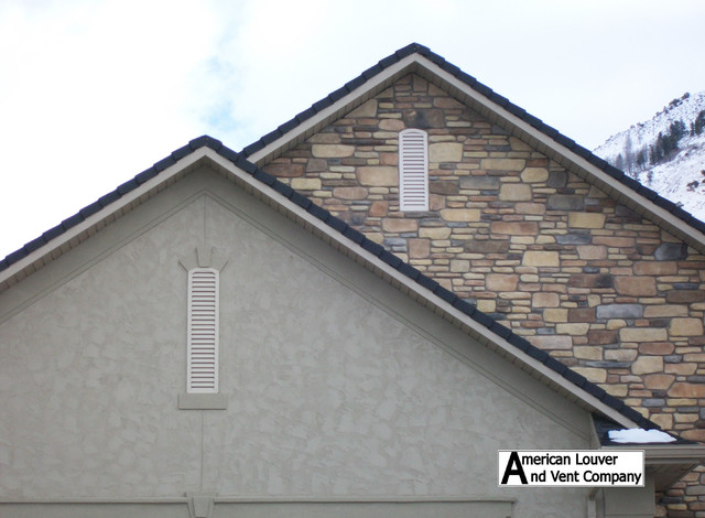 Gable Attic Vent Louvers Traditional Exterior Other