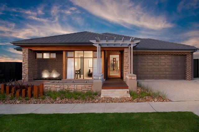 Facade contemporary exterior melbourne by orbit homes for 70s house exterior makeover australia