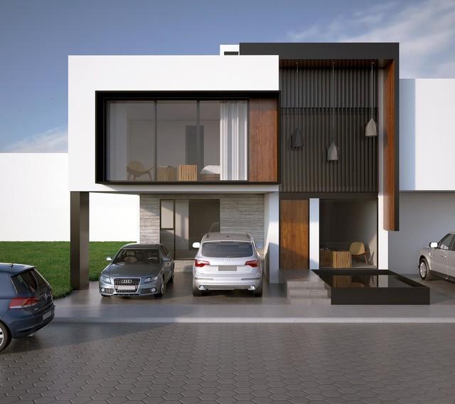 Facade Render Modern Exterior By Bageti Proyectos