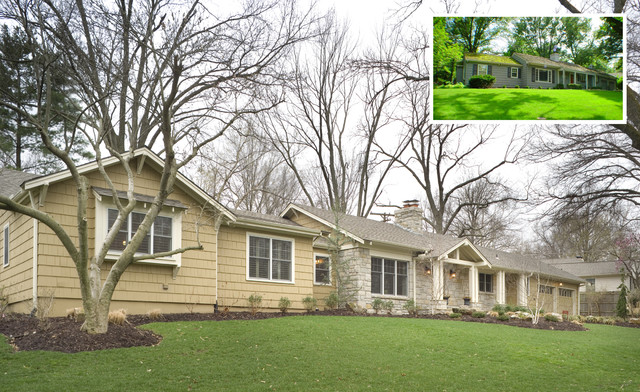 Fairway ranch renovation before and after for Before and after exterior home makeovers