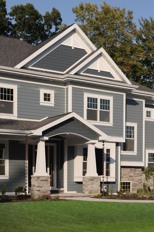 Is The Hardie Plank Color Combination Boothbay Blue With