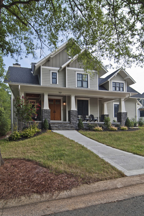 Two Tone Gray Exterior House Colors