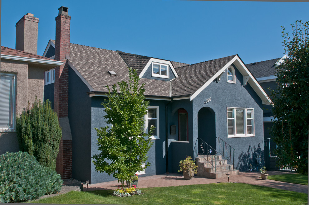 Fantastic Navy Blue Heritage Home Exterior Vancouver By Warline Painting Ltd