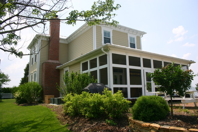 Farm House Renovation: View of Screen Porch traditional-exterior