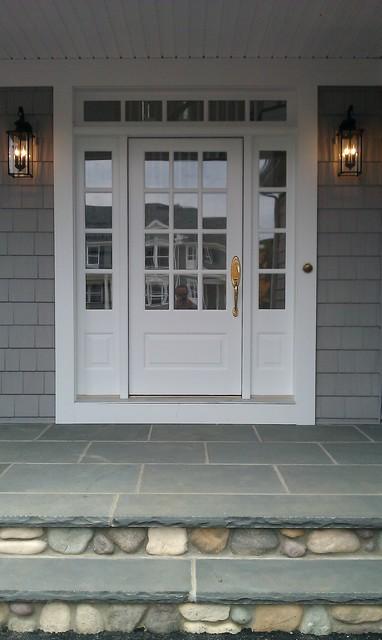 Farm House With Coastal Flair Natalie A Lewis Designsfarmhouse Exterior New York Porch Front Door