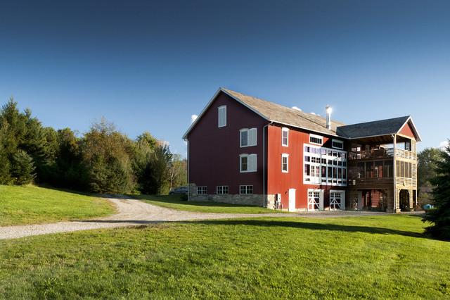 German Style Bank Barn Conversion Farmhouse Exterior
