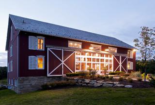 German-style Bank Barn Conversion - Farmhouse - Exterior - Cleveland