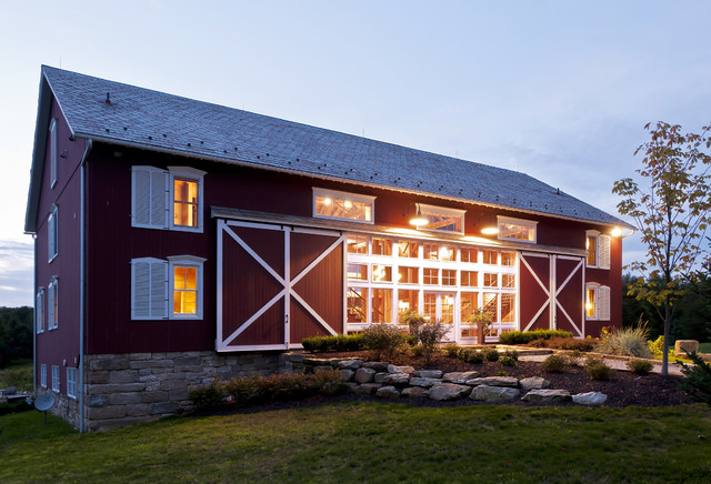German Style Bank Barn Conversion Farmhouse Exterior