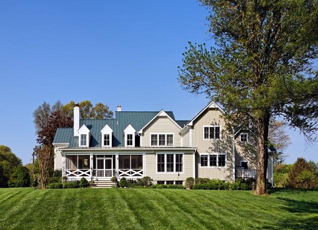 Farmhouse Rear View traditional-exterior