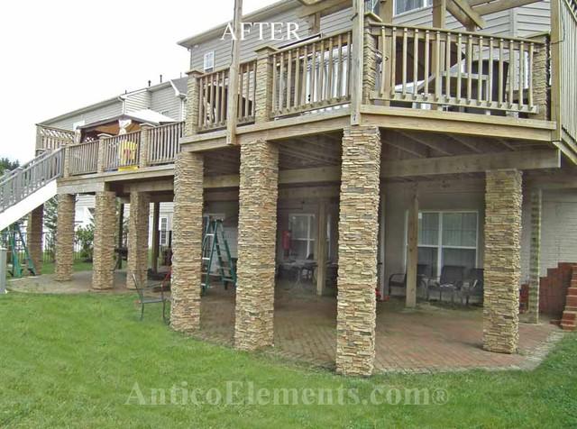 Porch column wraps faux stone columns post wraps column wraps