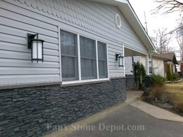 Great Faux Stone Siding Traditional Exterior