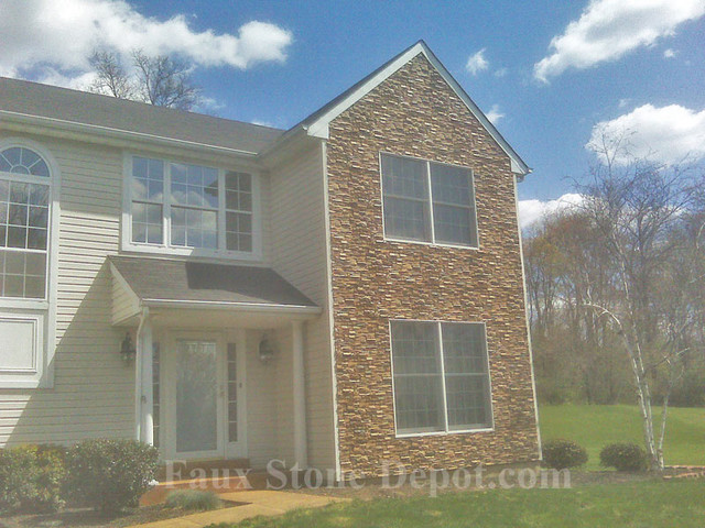 Faux Stone Siding Traditional Exterior Philadelphia By Faux Stone Depot