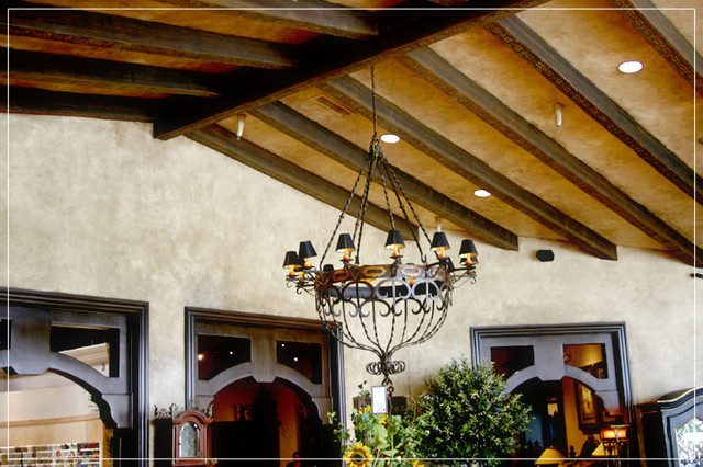 "Faux Wood Beam - ""Rustic"" Style traditional-exterior"
