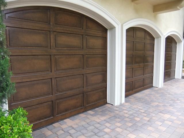 faux wood garage door paint 2