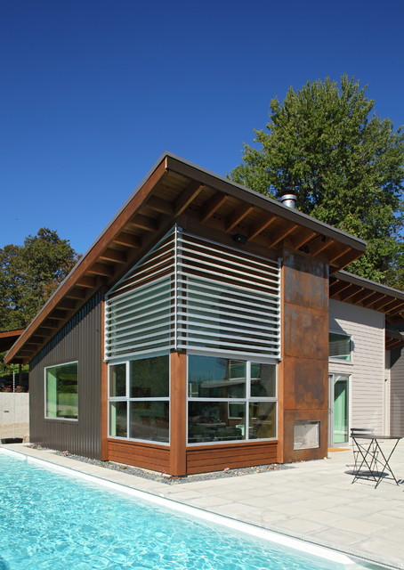 Fazan vacation home exterior for Modern shed siding