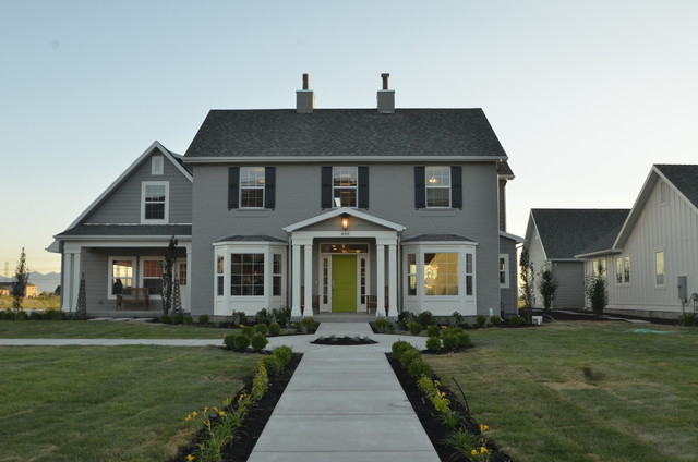 Federal Style Exterior Transitional Exterior Salt