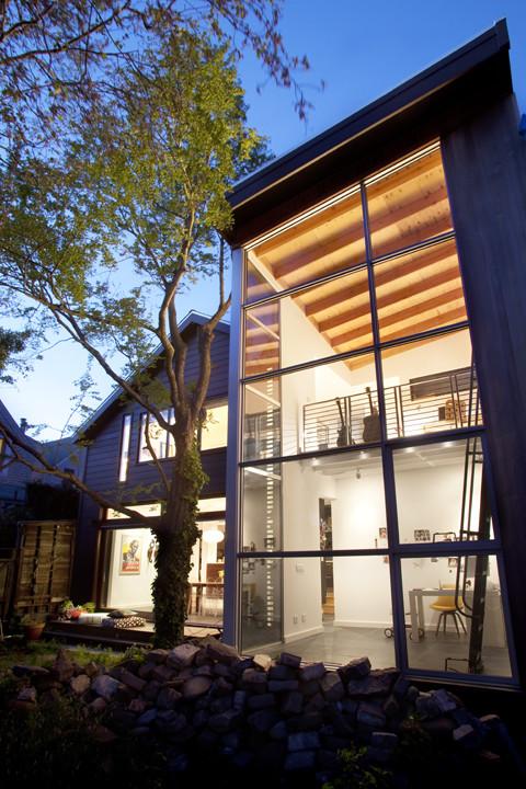 eclectic exterior by Feldman Architecture, Inc.