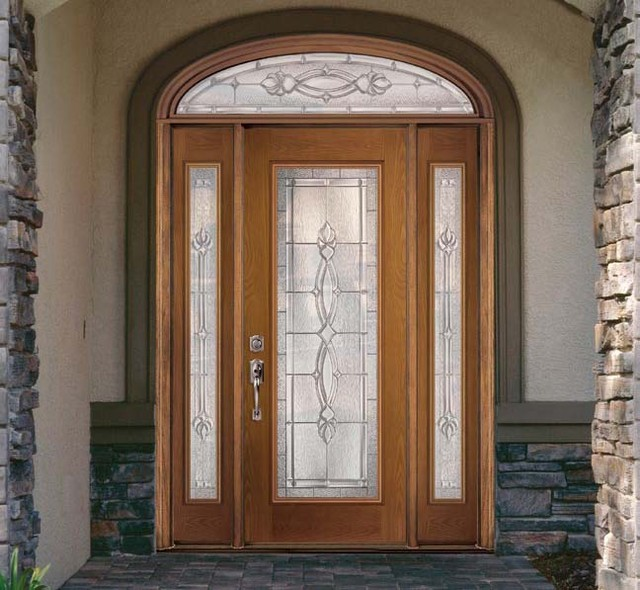 Fiberglass steel doors traditional exterior tampa for Masonite exterior doors