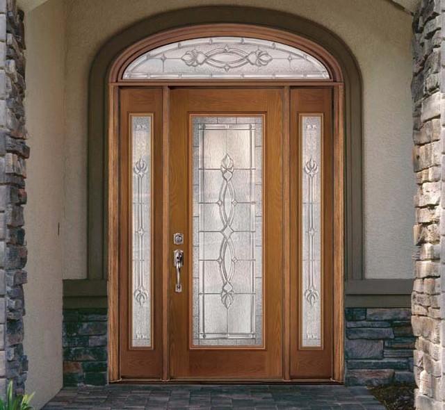Fiberglass steel doors traditional exterior tampa for Fiberglass front doors