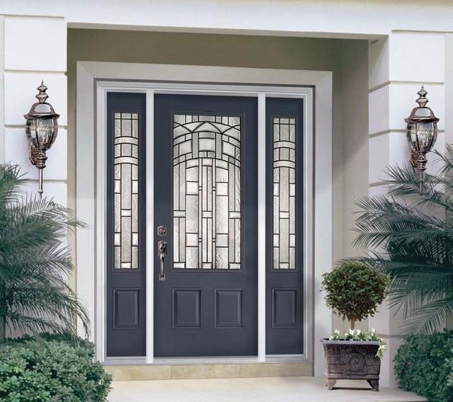 Delightful Fiberglass U0026 Steel Doors American Traditional Exterior