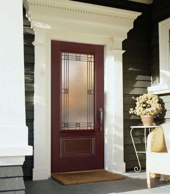 Fiberglass steel doors traditional exterior tampa for Entrance door frame