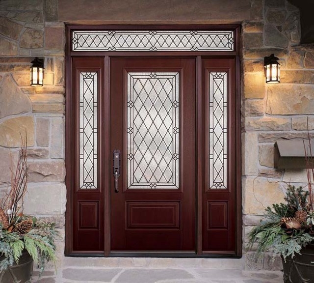 Fiberglass steel doors traditional exterior tampa for Custom made exterior steel doors